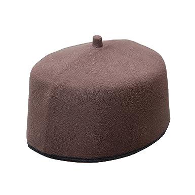 ee772e1b357 TheKufi Handmade Dark Brown Fez-Style Kufi Tip Prayer Cap Hat (M -22.5