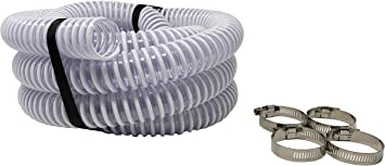Includes 4 Hose Clamps Intex Systems and Above Ground Pools Made in USA 2-Pack Sealproof 1.25 x 59 Inch Pool Filter Pump Connection Hose for 1-1//4 Premium Quality Kinkproof PVC 32mm