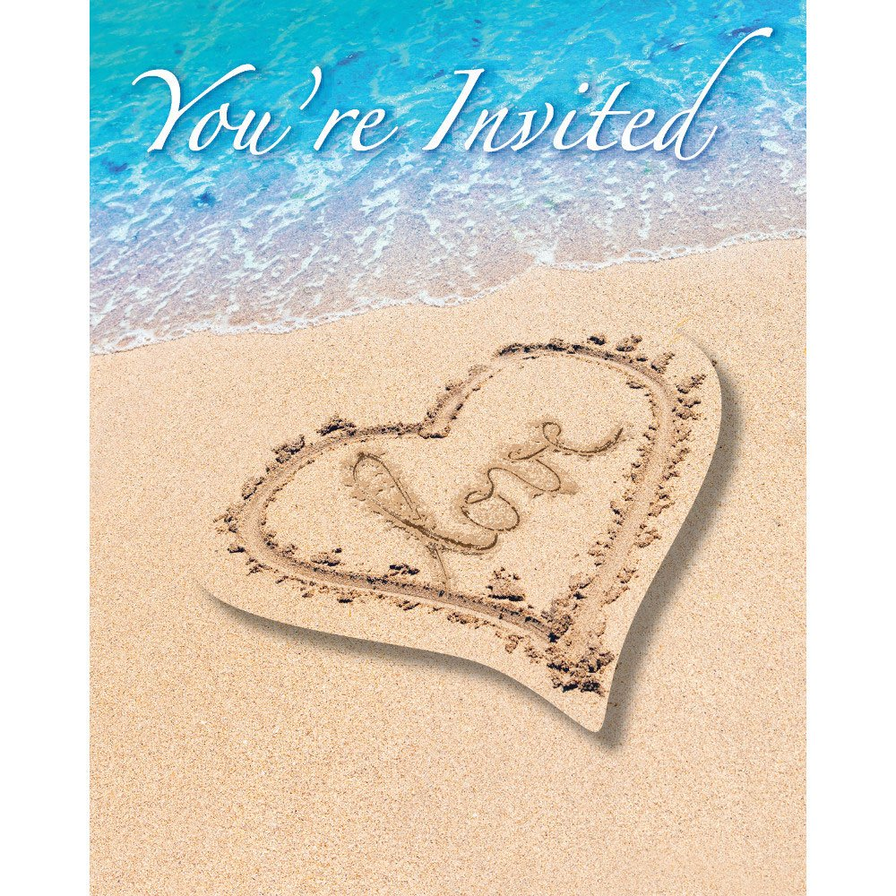 Beach Love Invitation Postcard Invites 8
