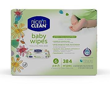 Nice n Clean Green Tea & Cucumber Baby Wipes, 384 Count