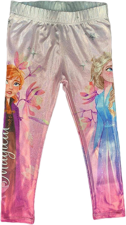 Disney Leggins Frozen II Anna e Elsa Pantalone Ufficiale Bambina Stampato 1835