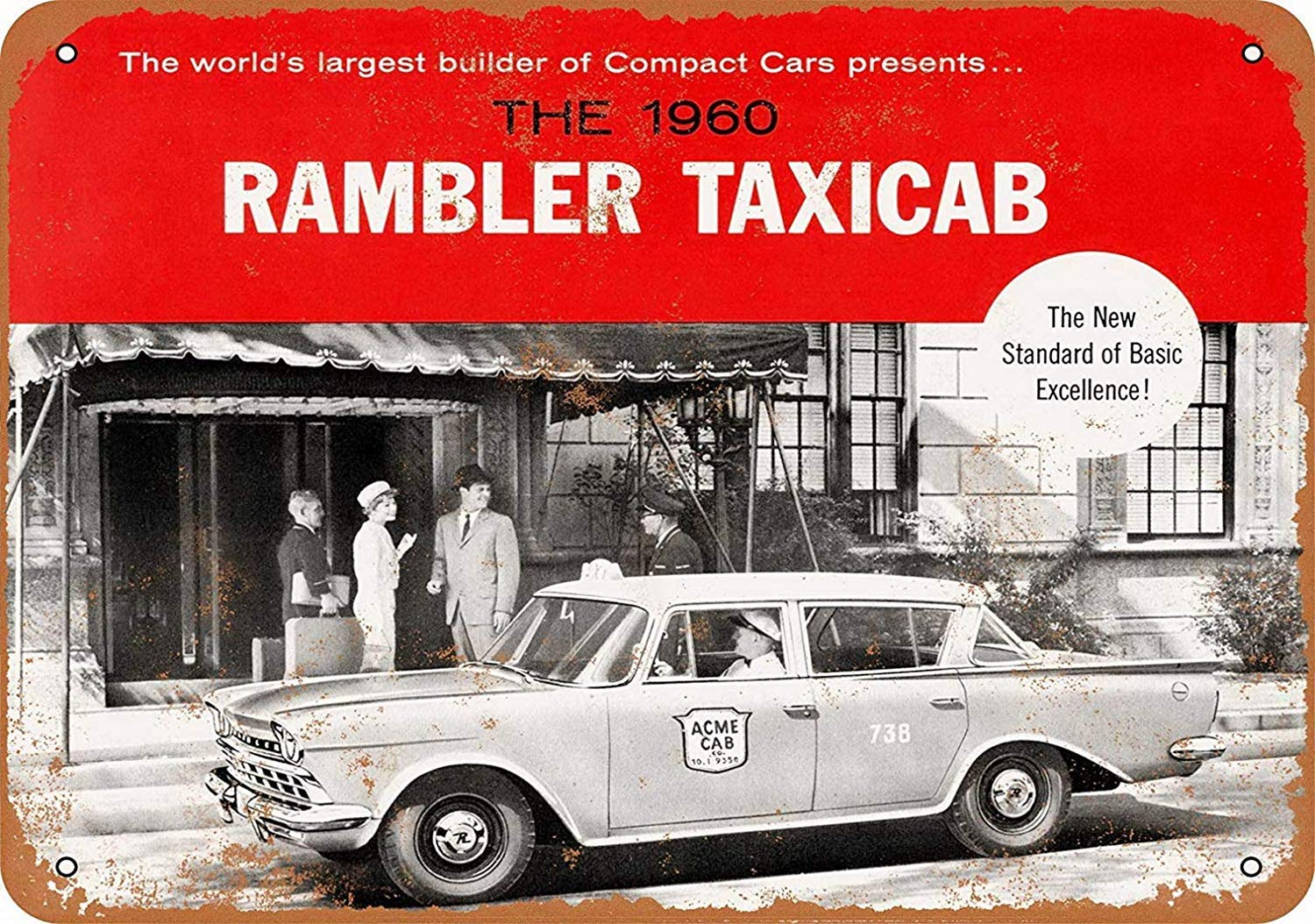No dream Rambler Taxi Cabs Cartel de Pared de Pintura de ...