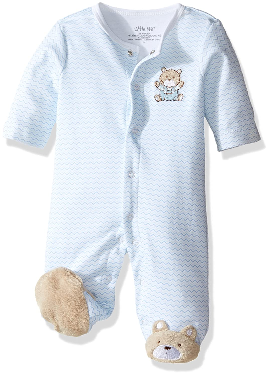 Amazon.com: Little Me Baby Boys Footie: Clothing