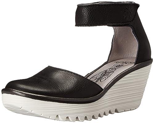 0702d376 Fly London P500709001, Zapatos de Cuñas Atado al Tobillo Mujer