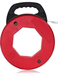 Ram-Pro 200 Foot Reach, Spring-Steel Fish Tape Reel, with High Impact Case, for Electric or Communication Wire Puller