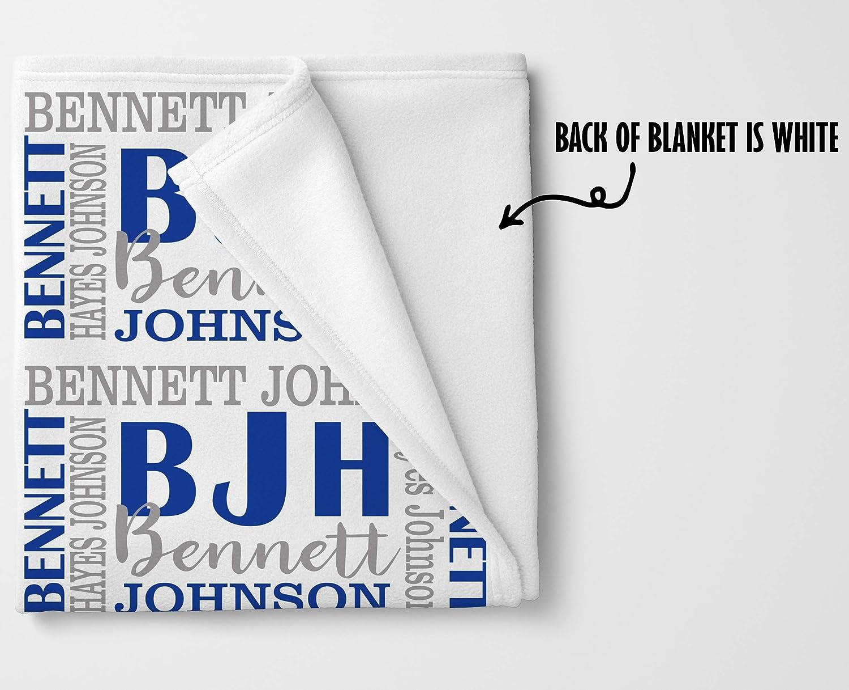 Monogram Baby Gifts Personalized Baby Blanket Custom Baby Blanket