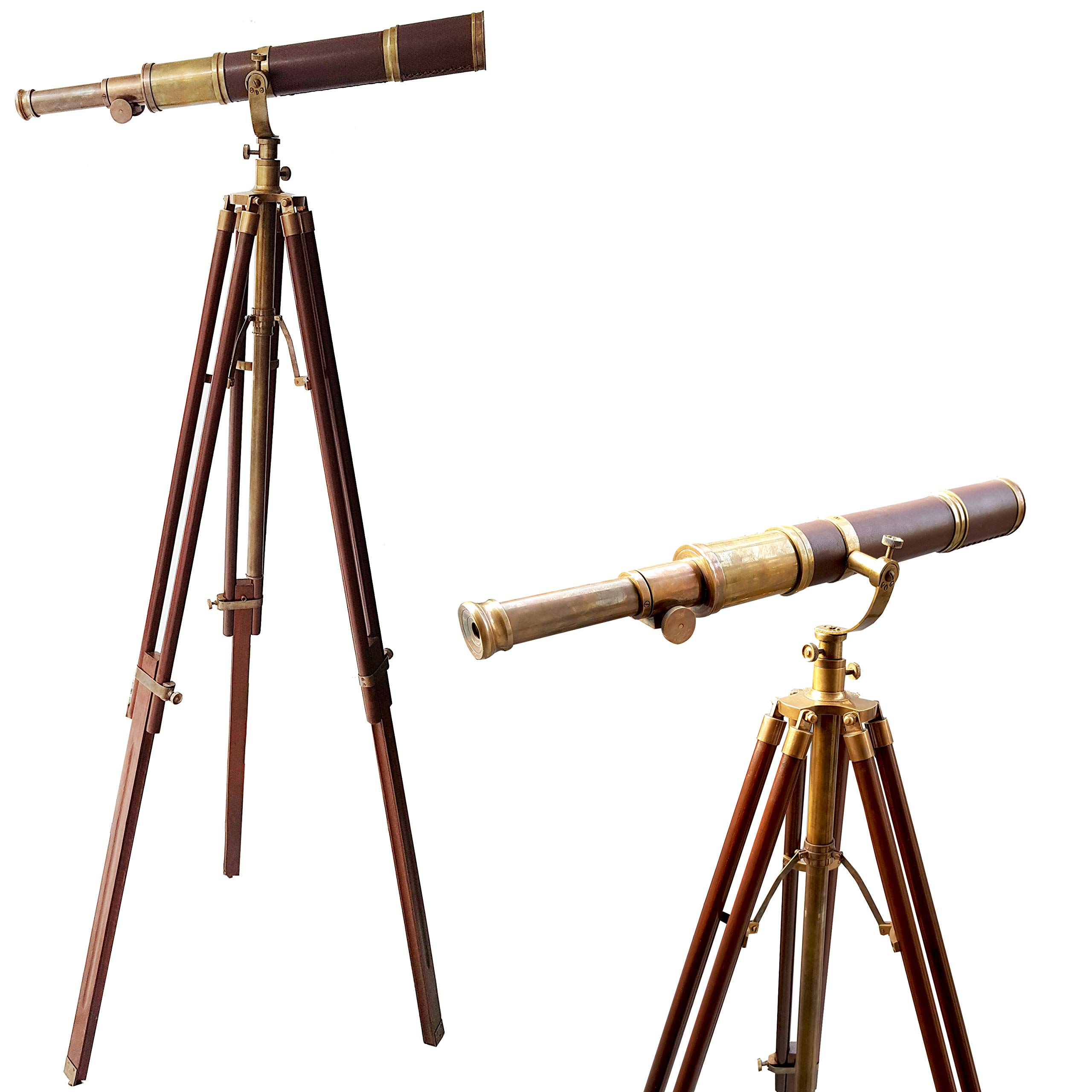 collectiblesBuy Royal Vintage Moon Arc Telescope Antique Handmade Tripod Telescopes Handicraft Nautical Article