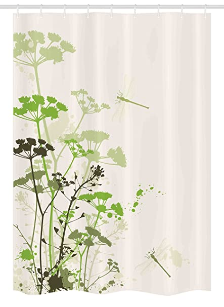 Amazon Ambesonne Dragonfly Stall Shower Curtain Minimalist Custom Bathroom Stal Minimalist