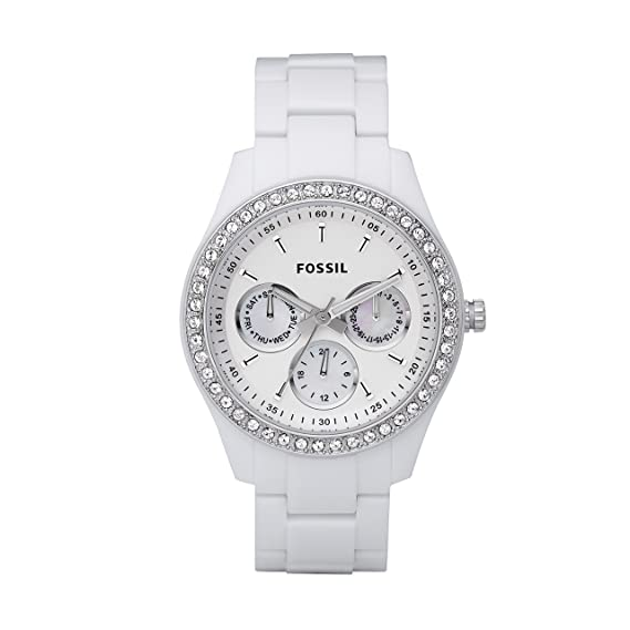 7d84787fa2d7 Amazon.com  Fossil Women s Stella Quartz Stainless Steel and Resin  Chronograph Watch