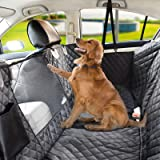 Vailge Dog Seat Cover for Back Seat, 100% Waterproof Dog Car Seat Covers with Mesh Window, Scratch Prevent Antinslip Dog Car