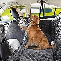 Alfombrillas de coche para perros impermeables de seguridad para animales dom/ésticos Hamaca protectora trasera cubierta para asiento de coche para perros 132 x 142 cm