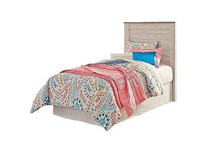 super popular ce612 e918f Amazon.com: Ashley Willowton Full Panel Headboard In White ...