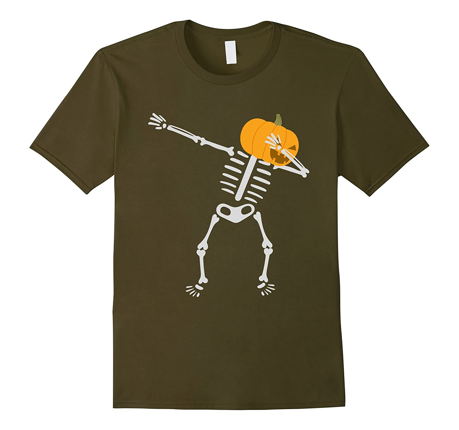 Dabbing Skeleton T-shirt Pumpkin Funny-T-Shirt
