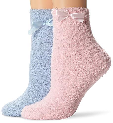 MUK LUKS Chenille Slipper Sock (2 Pair) (Women's) nvgxQUx