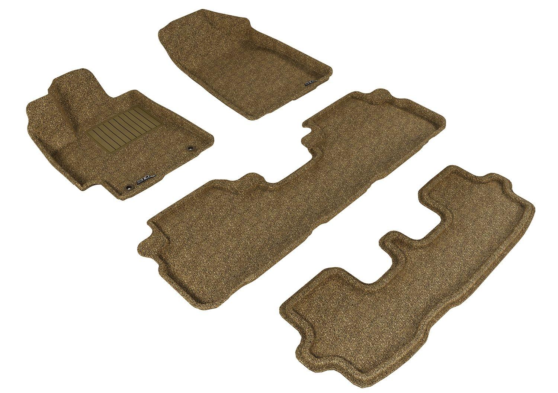 Black Classic Carpet 3D MAXpider Front Row Custom Fit Floor Mat for Select Toyota Highlander Models L1TY15012209