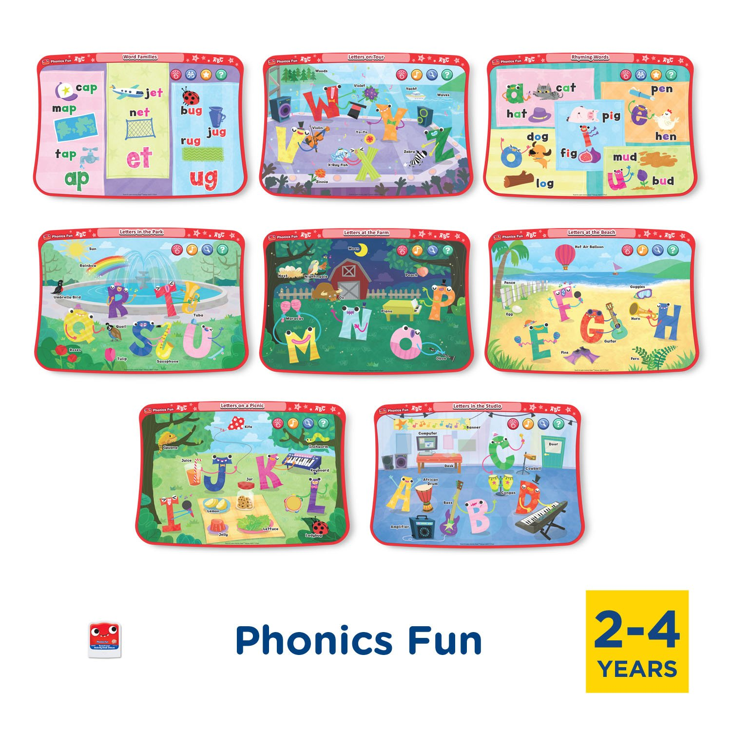 VTech Touch & Learn Activity Desk Deluxe 2-in-1 Preschool Bundle Expansion Pack for Age 2-4 by VTech (Image #3)