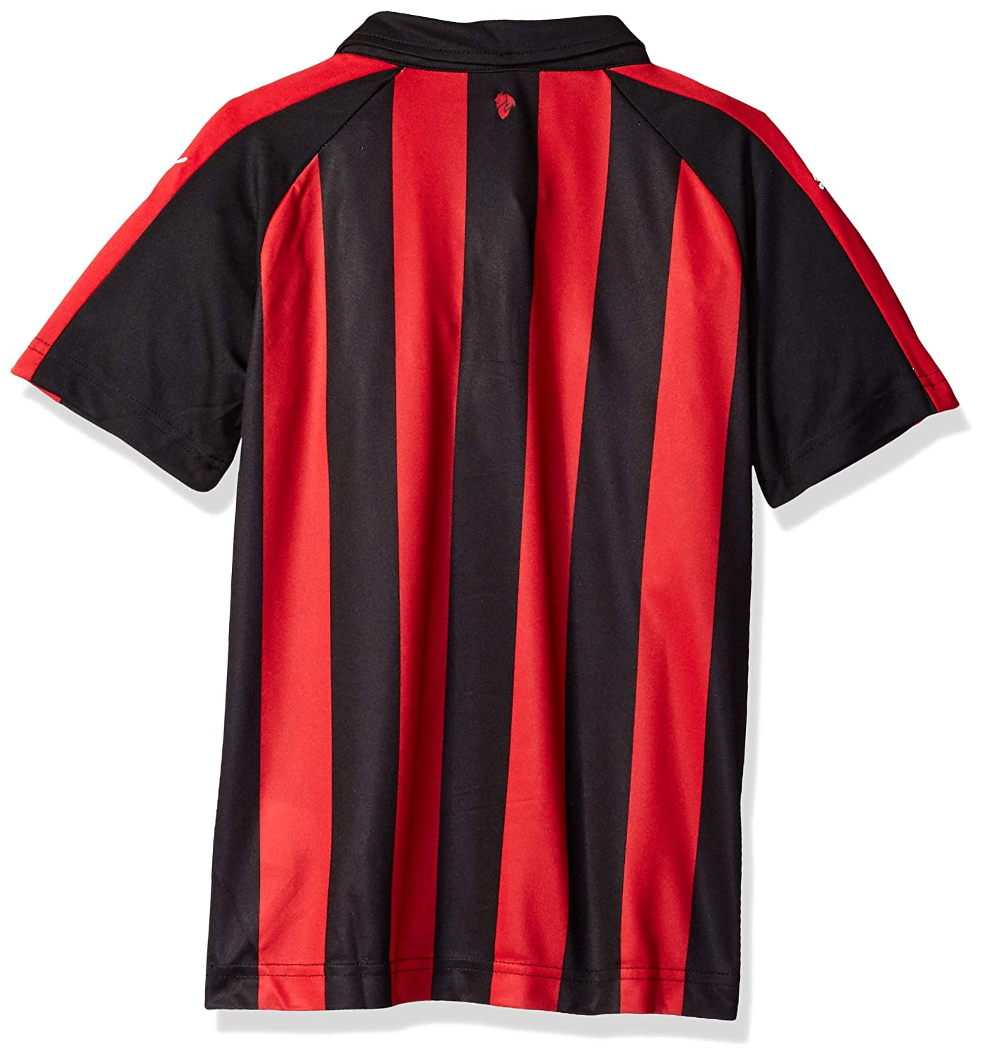 PUMA Mens Standard Ac Milan Home Shirt Replica Ss Kids with Sponsor Logo