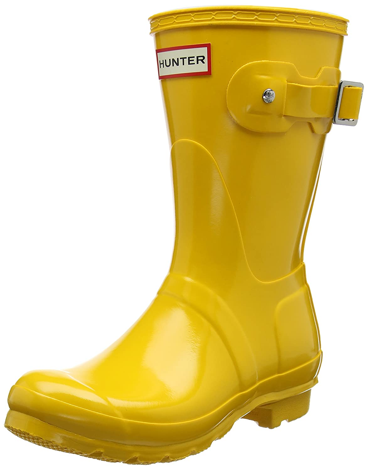 Hunter Women's Original Short Gloss Rain Boots B01N7XNX0U 9 B(M) US|Yellow