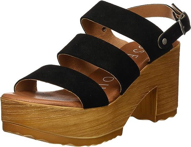 Sandalias con Plataforma Madera para Mujer