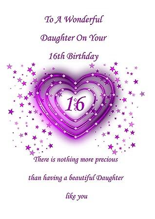 Daughter 16 Birthday Card