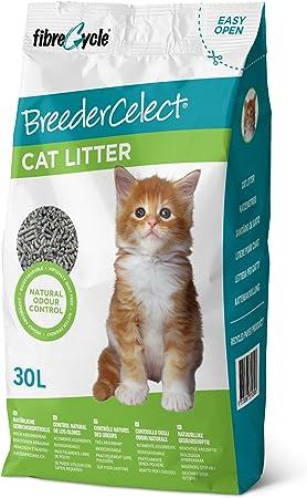 Breeder Celect Cat Litter 30l Amazon Co Uk Pet Supplies