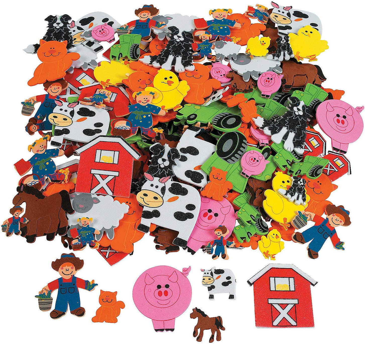 Fabulous Foam Adhesive Farm Shapes - Crafts for Kids and Fun Home Activities