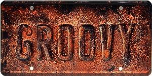 Celebrity Machines Ash vs Evil Dead   Groovy   Metal Stamped License Plate