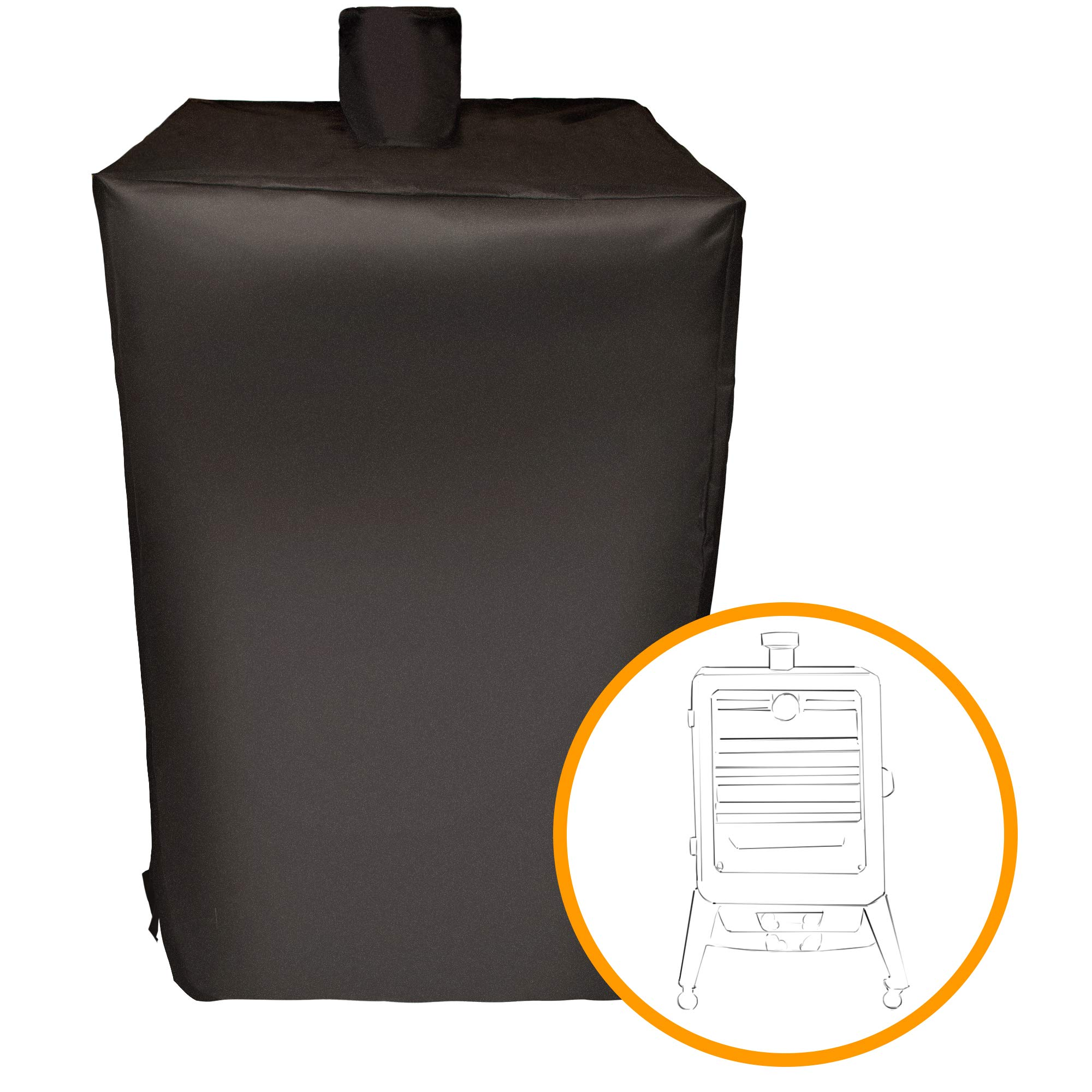 i COVER Smoker Cover Sized for Pit Boss Grills 77550 5.5 and 5 Series, pro Series 4 Vertical Pellet Smokers Waterproof Heavy-Duty Water Proof Patio Outdoor Canvas Vertical Smoker Cover #G21625 by i COVER
