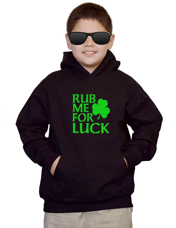 Interstate Apparel Youth Rub Me For Luck ST Patricks Day VV512 Kids Sweatshirt Hoodie