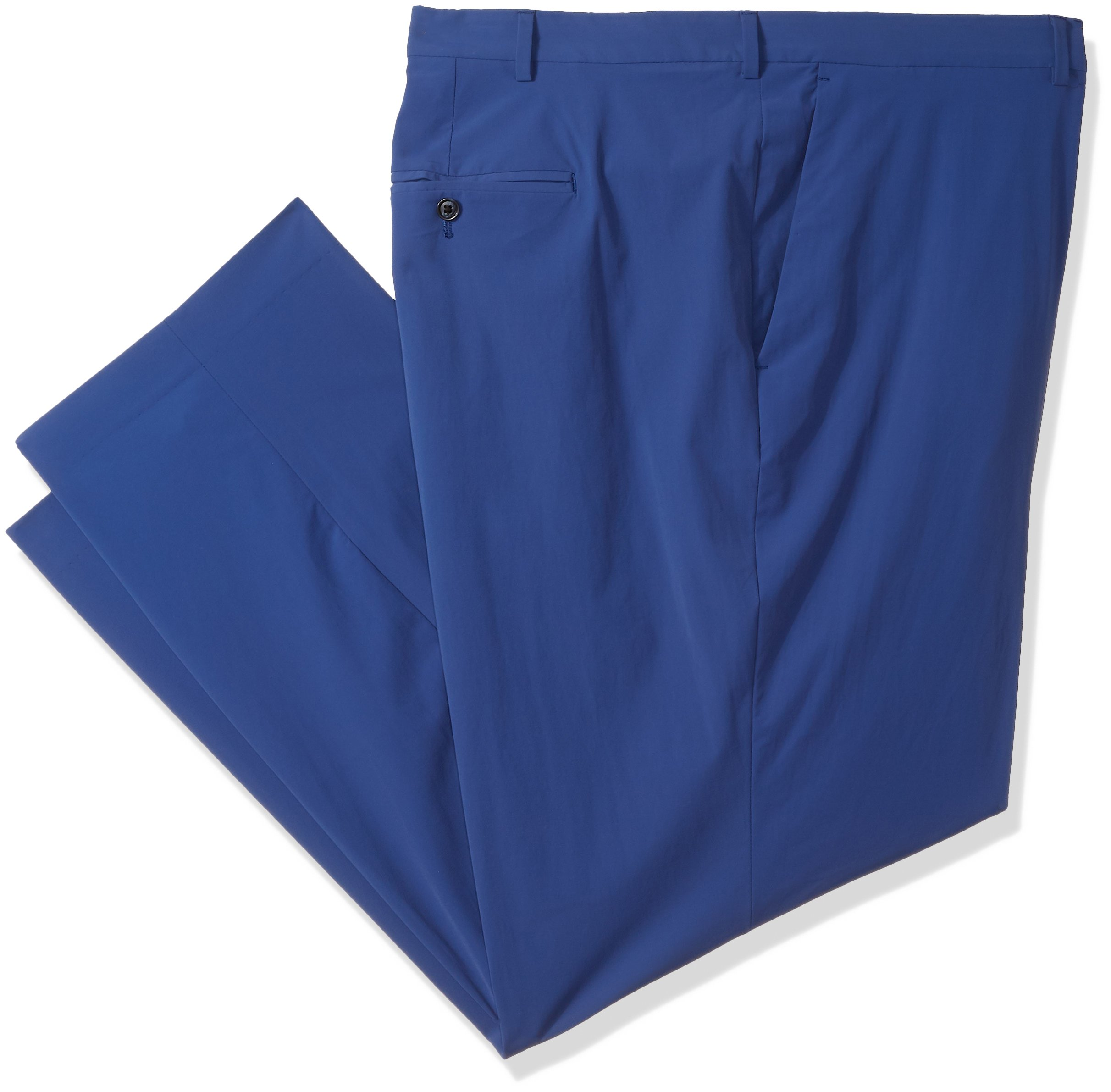 Perry Ellis Men's Big and Tall Solid Tech Chino, Bright Sapphire, 44W X 30L