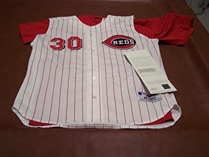 wholesale dealer 8f105 492c1 Ken Griffey Jr. Signed Jersey - Reds Home W T - Upper Deck ...