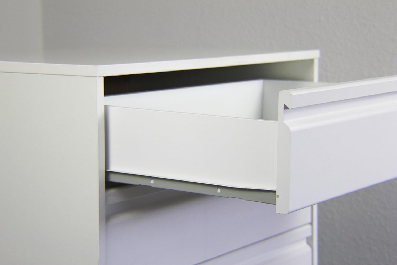 Bianco 45 x 50 x 73 cm Samblo Kai Cassettiera con 4 Cassetti Legno
