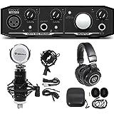 Mackie Onyx Artist 1.2 2x2 USB Recording Interface+Studio Microphone+Headphones