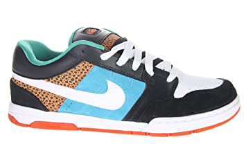 312fe24a2132a4 Image Unavailable. Image not available for. Colour  Nike Air Mogan Low 6.0 311839  Black Blue White Turquoise ...