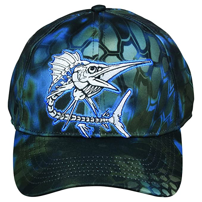 Amazon.com  Kryptek Neptune Blue Grey New Camo Saltwater Sail Fish ... b59a313fcf2