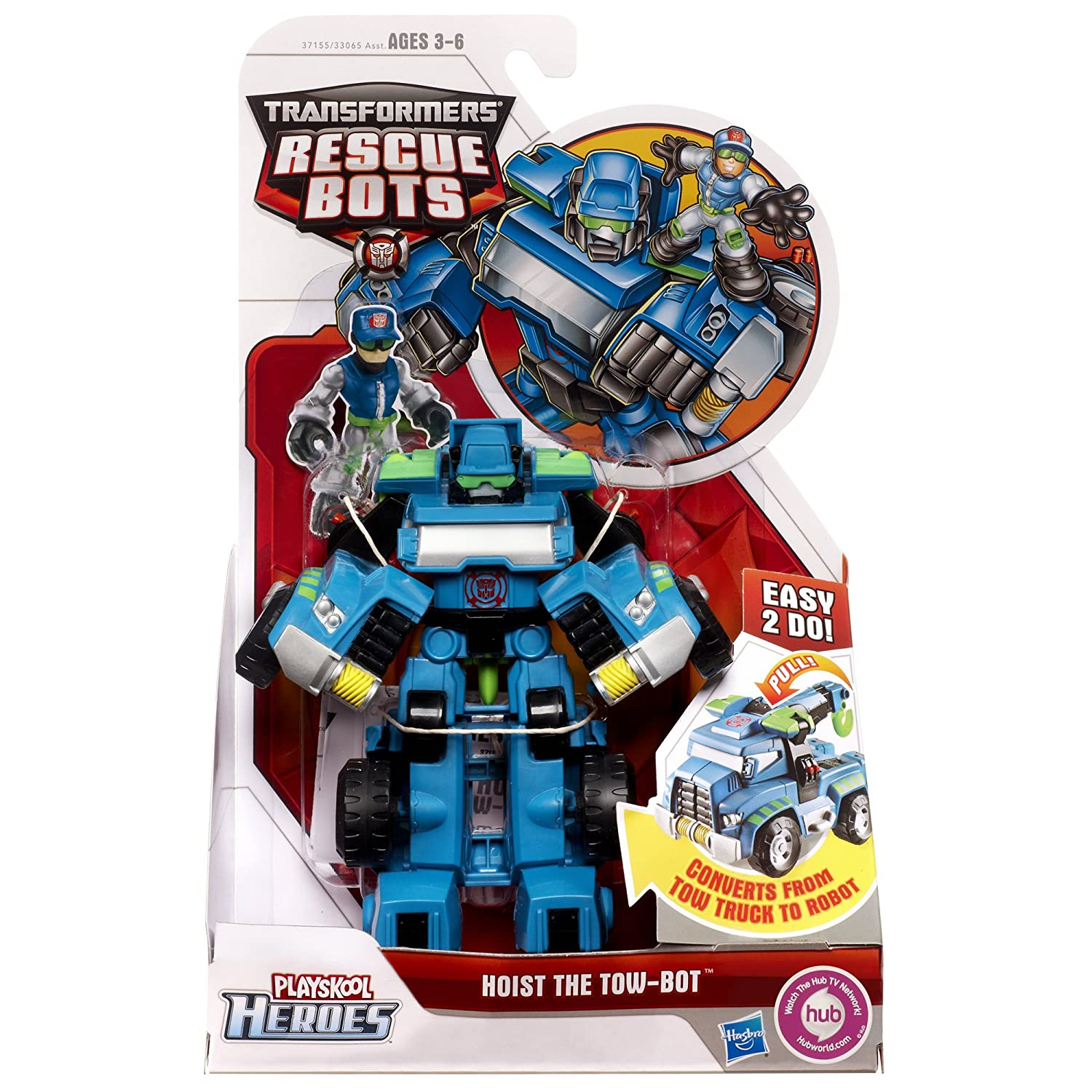 Amazon.com: Transformers Rescue Bots Playskool Heroes Hoist The Tow Bot  Figure: Toys U0026 Games
