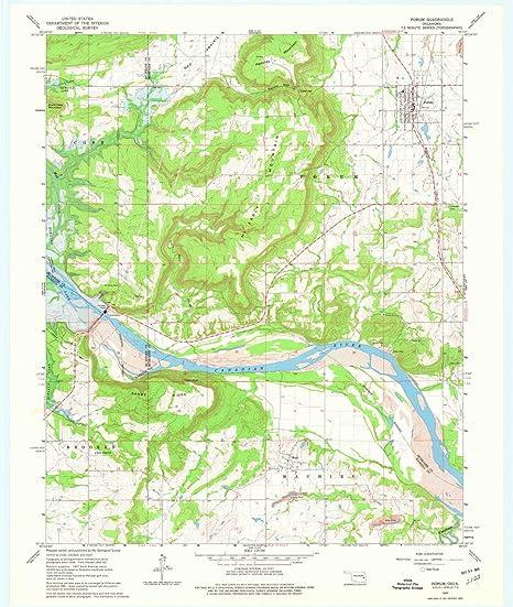 Amazon.com: YellowMaps Porum OK topo map, 1:24000 Scale, 7.5 X 7.5 on stonewall ok map, weatherford ok map, poteau ok map, braggs ok map, ada ok map,