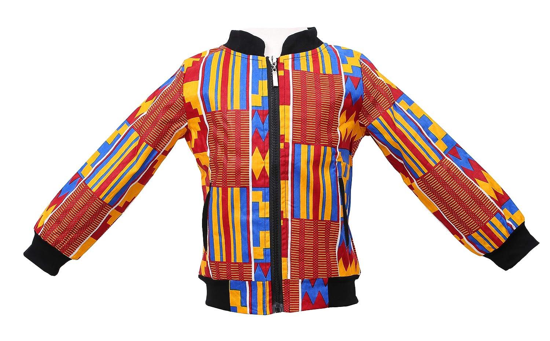 Unisex Kids African Jackets Toddler Kids Long Sleeve Autumn Dashiki African Windproof Coat Warm Outwear Jacket