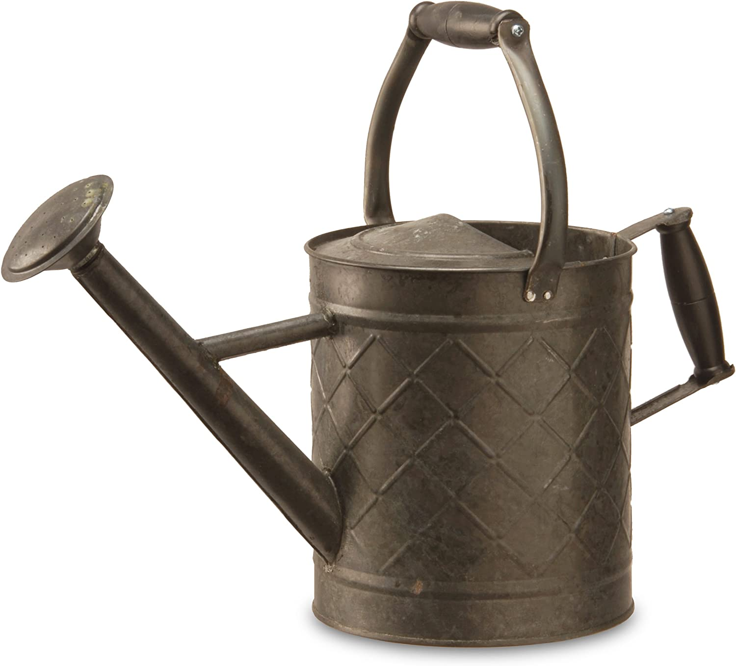 National Tree 12 Inch Garden Accents Antique Black Metal Watering Can (GAWC30-12AB)