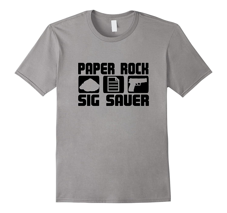 Rock Paper Sig Sauer Gun T-shirt black fort-CD