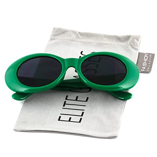55131b6fb92eb Elite Vintage NIRVANA style Clout Goggles Oval Sunglasses For Women Men  Eyewear (Green