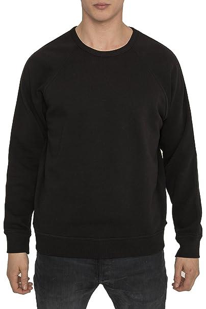 Suadaderas Basicas Negras para Hombre, Sweater Algodón, Lisa Casual Sport Luxe de Marca –