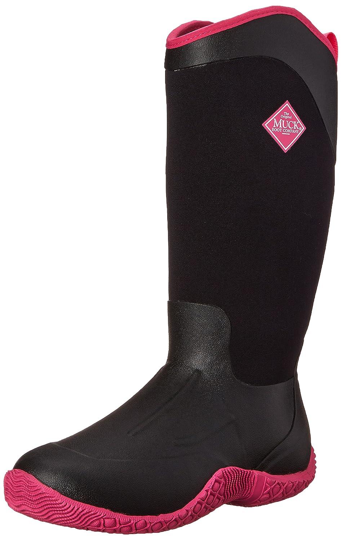 MuckBoots Women's Tack Boot II Tall Equestrian Work Boot Tack B00NV61Z2W 5 B(M) US|Black/Hot Pink 305587