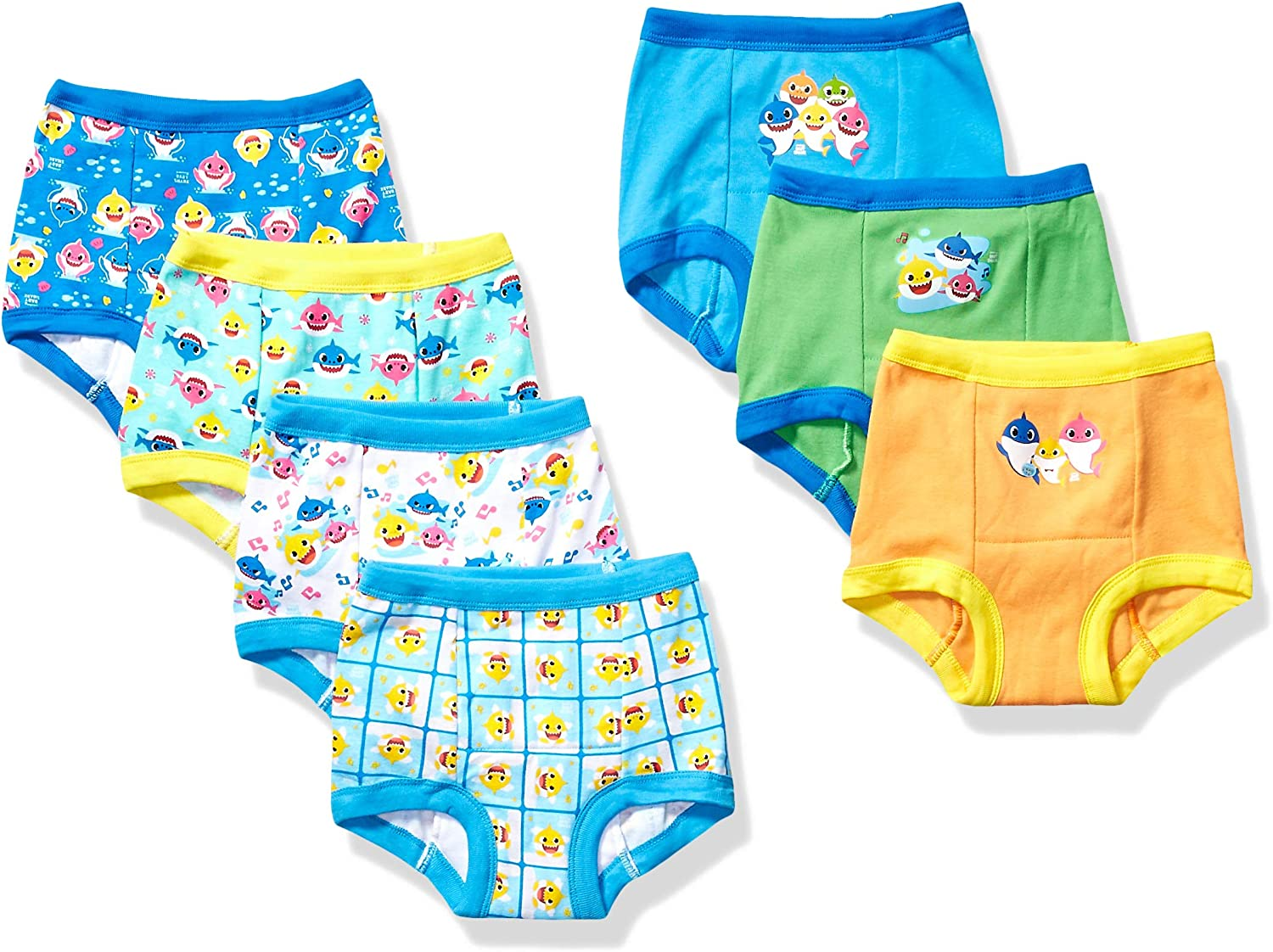 Baby Shark Handcraft Boys' Toddler 7pk or 3pk Potty Training Pant