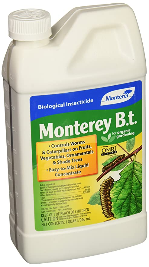 Monterey 1qt LG 6336 BT Biological Insecticide for Worms & Caterpillars, 32  oz