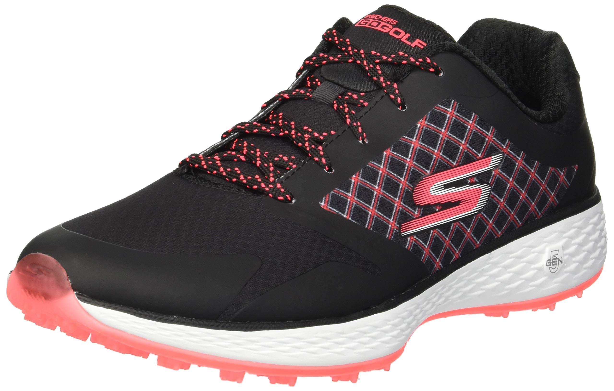 Skechers Golf Women's Go Eagle Major Shoe, Black/hot Pink, 11 M US