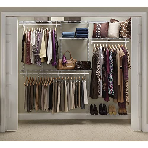 Charmant ClosetMaid 22875 ShelfTrack 5ft. To 8ft. Adjustable Closet Organizer Kit,  White