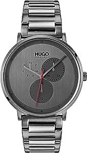 Hugo - Reloj de Cuarzo para Hombre con Correa de Acero Inoxidable