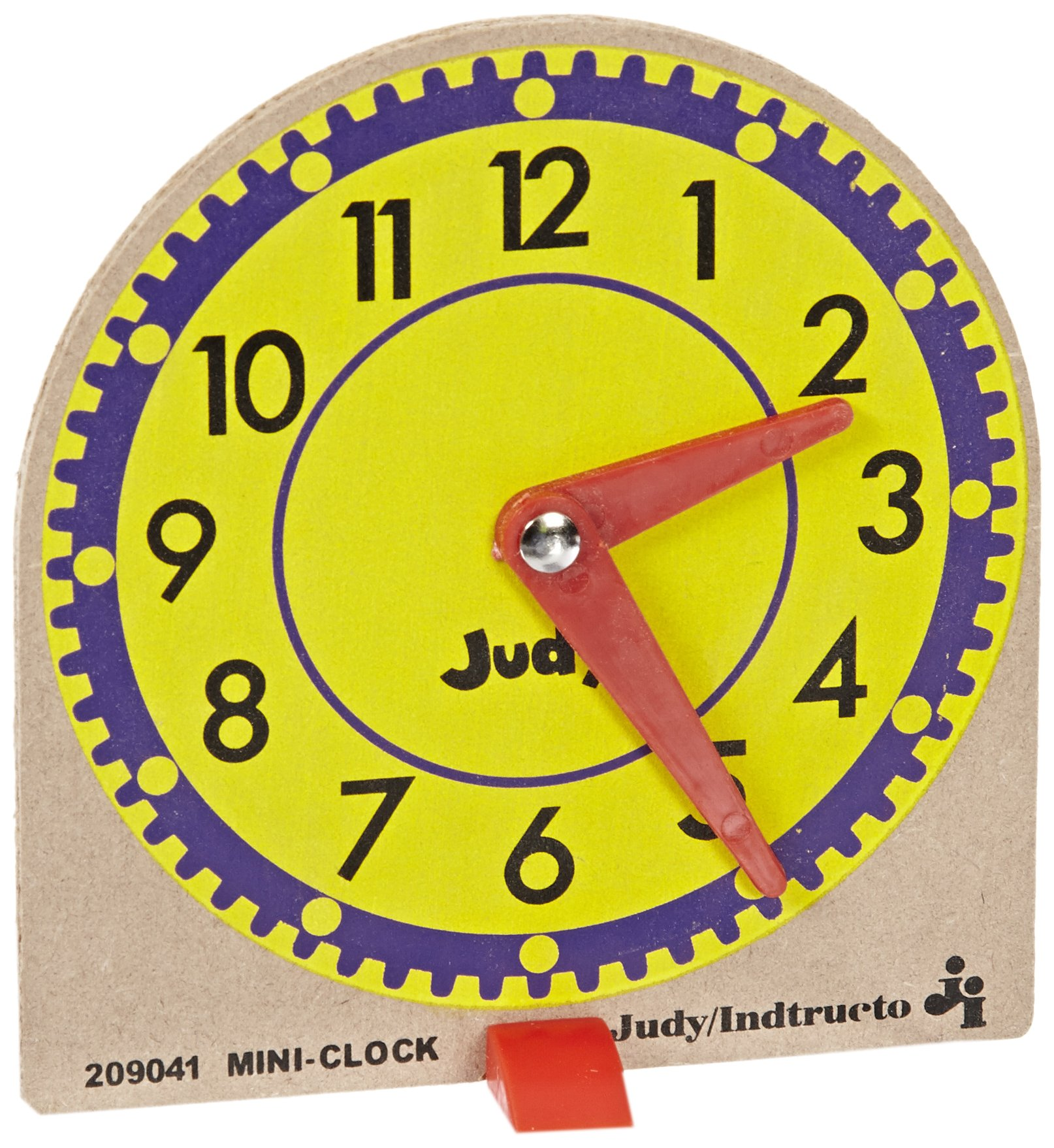 Judy Instructo Mini-Clocks - 4 1/8 x 4 inches - Set of 12