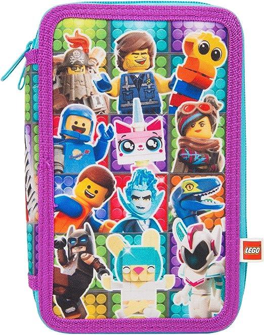 LEGO Estuche Escolar Dos Cremalleras Movie 2 Avec Lapices de Color Lapiz Mini Cuaderno: Amazon.es: Juguetes y juegos